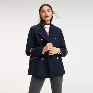 Tommy Hilfiger Military Double Breasted Peacoat
