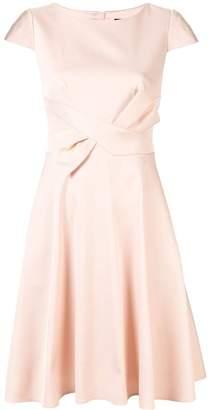 Paule Ka bow-detail flared dress