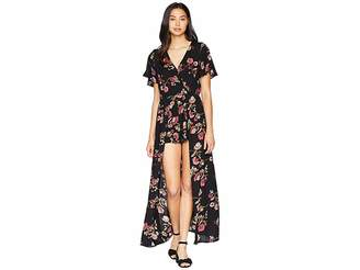 Angie Short Sleeve Long Romper Women's Jumpsuit & Rompers One Piece