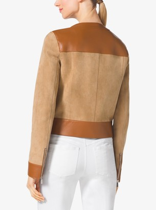 Michael Kors Suede and Leather Jacket