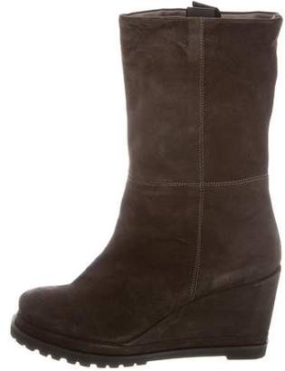 Chuckies New York Suede Wedge Boots w/ Tags
