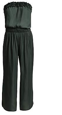 Halston Women's Strapless Ruched Jumpsuit