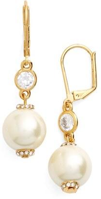 Women's Kate Spade New York 'Pearls Of Wisdom' Faux Pearl Drop Earrings $48 thestylecure.com
