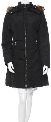 MonclerMoncler Fur-Trimmed Down Coat