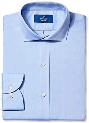 Buttoned Down Men's Slim Fit Cutaway-Collar Solid Non-Iron Dress Shirt (Pocket)
