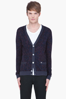 Marc by Marc Jacobs blue Camo Cardigan