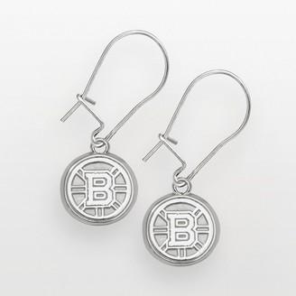 Logoart LogoArt Boston Bruins Sterling Silver Logo Drop Earrings