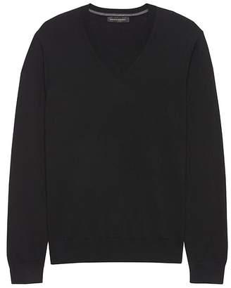 Banana Republic Extra-Fine Italian Merino Wool V-Neck Sweater