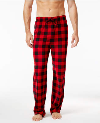 Club Room Men's Fleece Patterned Pajama Pant + BONUS Solid Pant, Only at Macy's $65 thestylecure.com