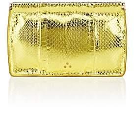 Jerome Dreyfuss Women's Popoche Snakeskin Clutch - Yellow