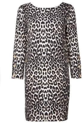 Wallis Petite Brown Animal Print Shift Dress