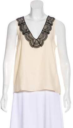 Jenni Kayne Sleeveless Lace-Trimmed Top w/ Tags