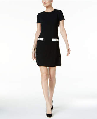 Tommy Hilfiger Faux-Pocket Shift Dress $99 thestylecure.com
