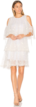 Needle & Thread Embroidered Tulle Dress $399 thestylecure.com