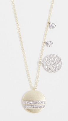 Meira T 14k Gold Diamond Circles Necklace