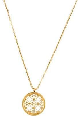 Michael Kors Crystal Heritage Monogram Pendant Necklace