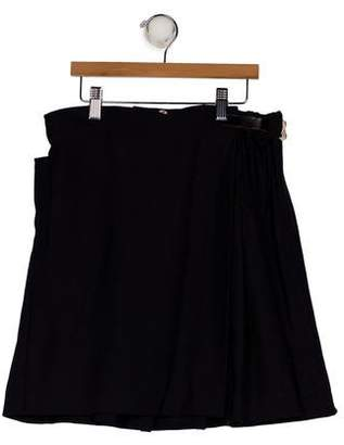 Marni Girls' Pleated A-Line Skirt