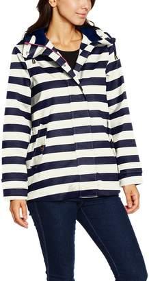 Joules Women's Coast Waterproof Hooded Printed Jacket