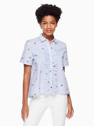 Kate Spade Abuzz poplin shirt