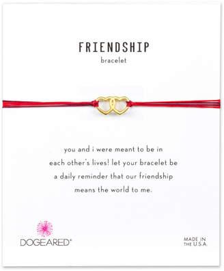 Dogeared Friendship 14K Over Silver Adjustable Bracelet