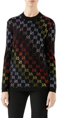 Gucci GG Crystal Embellished Wool Sweater