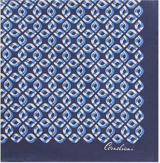 Corneliani Chain-link silk pocket square