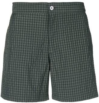 Officine Generale checked beach shorts