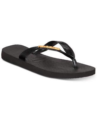 f542ce007901 Havaianas Women s Top Logo Metallic Flip-Flop Sandals