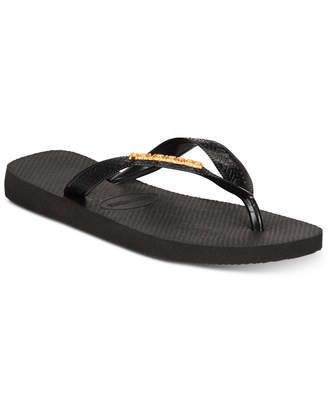8ce02d1f2 Havaianas Women s Top Logo Metallic Flip-Flop Sandals
