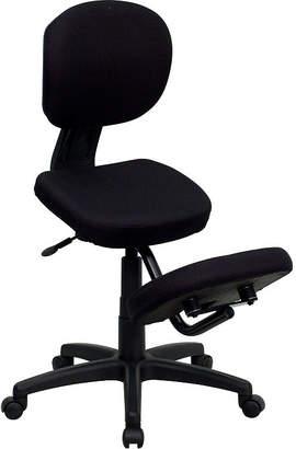 Asstd National Brand Mobile Ergonomic Kneeling Posture Task Chair withBack