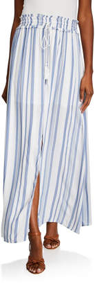 Lost + Wander Marina Stripe Maxi Skirt w/ Tassel-Tie