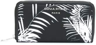 Sonia Rykiel palm print zip around wallet