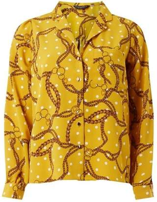Dorothy Perkins Womens Yellow Spot Print Shirt