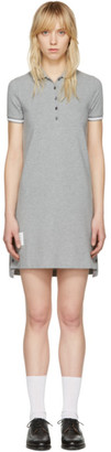 Thom Browne Grey A-Line Polo Dress $590 thestylecure.com