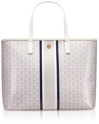 Tory Burch Coated Canvas Gemini Link Small Tote Bag