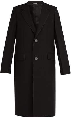 Lanvin Contrast-stitching wool-twill coat