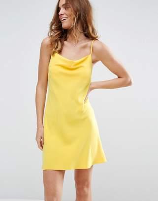 Asos Design Cowl Neck Slip mini dress