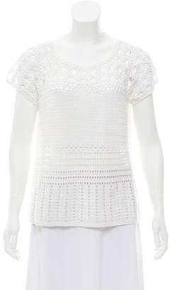 The Wrights Macramé Short Sleeve Sweater