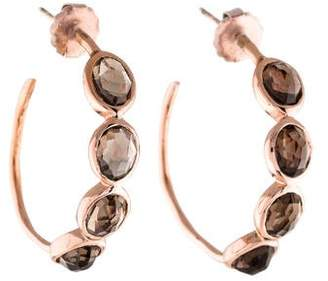 Ippolita Rosé Smoky Quartz Hoop Earrings