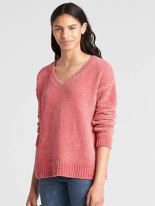 Gap Chenille V-Neck Pullover Sweater
