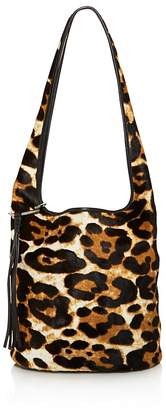 Elizabeth and James Finley Courier Leopard Print Calf Hair Hobo - 100% Exclusive