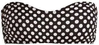 Norma Kamali Sunglass polka-dot print bikini top