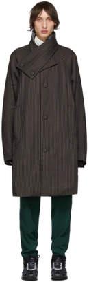 Kiko Kostadinov Purple Stripe Midnight Padded Coat