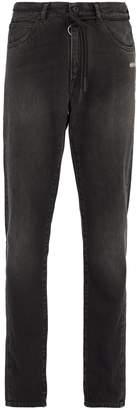 Off-White Shoelace-belt slim-leg jeans