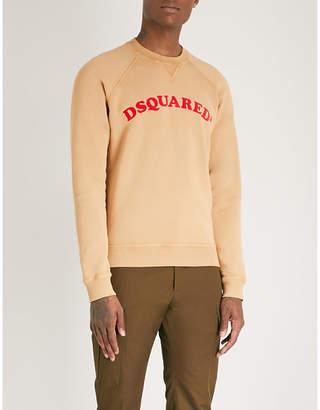 DSQUARED2 Logo-print cotton-jersey sweatshirt