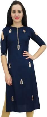Bimba Women's Tunic Embroidery Designer Kurti Indian Festive Kurta