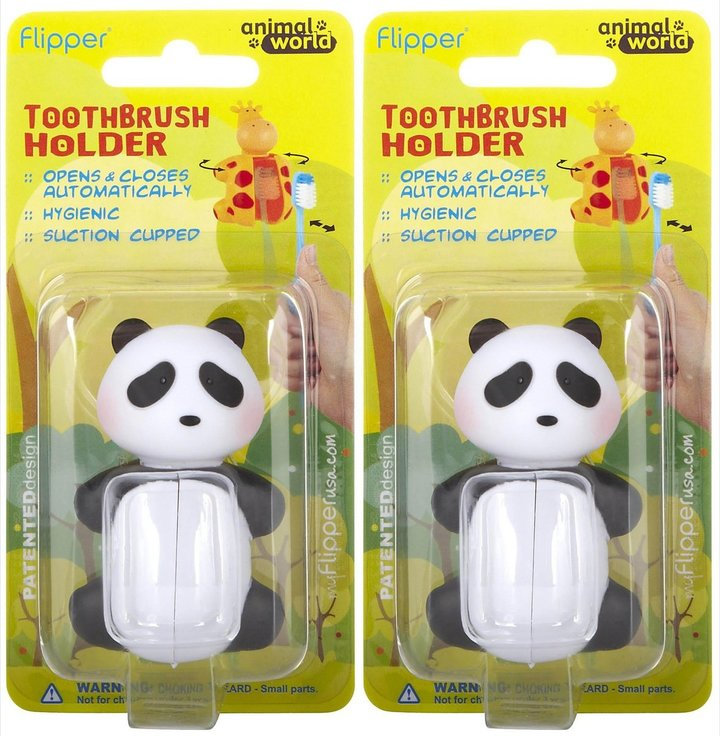 Flipper nimal World Panda Toothbrush Holder