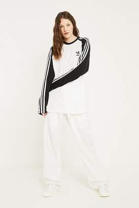 adidas 3-Stripe Black and White Long-Sleeve Shirt