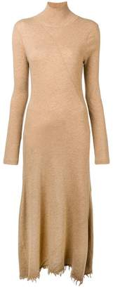 Jil Sander frayed knit dress