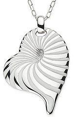 Sterling Silver White Enamel Heart Pendant w/Chain